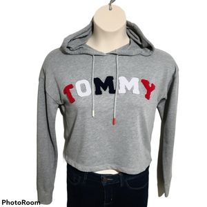 Tommy Hilfiger Crop Hoodie Sweater Like New *